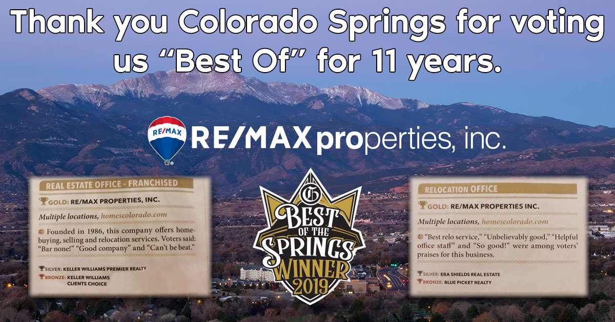RE/MAX Properties, Inc. Voted Best of for 11 Years
